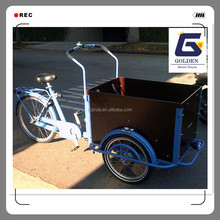 new design bakfiets electric motorized cargo trike with cabin box scooter tricycle for sale