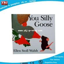 Luxury hardcover children's story books, custom kids hardcover book with sliver gild