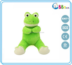 wholesale green frog baby plush toy