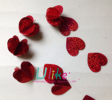 laser foil 3D heart garland metal hanging heart decoration