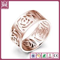 hand shaped rose flower finger ring