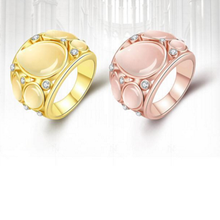 The Hot-selling Fine Accessories Fashion Popular Statement Opals Set Auger Female Engagement Ring