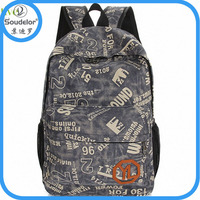 kids school canvas backpack bag canvas backpacks for college girls high class student school bag