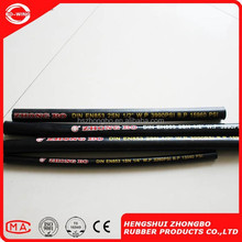 SAE 100 R5 Standard one high tensile steel wire braided rubber hose and one fiber braided