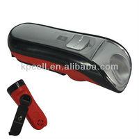 hand crank dynamo rechargeable flashlight torch dynamo charging flashlight