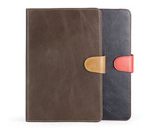 Luxury leather tablet case for ipad, universal tablet case 9""