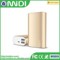 dual 1A/2.1A usb output 8000mah cell phone power bank