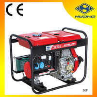 diesel electric generator 5kv generator set price from huahe,home use open type diesel generator