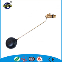 forged brass water tank float ball valve with plastic ball
