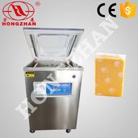 Hongzhan dz400 400mm sealing line meat fish cereal food vacuum packaging machine