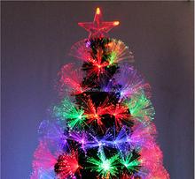 2015 high quality aritificial pvc christmas tree, handsome and popular fiber led light christmas tree