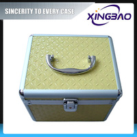 Anodised portable cosmetic case,packing fashion cosmetic case with velvet inner,aluminum cosmetic case