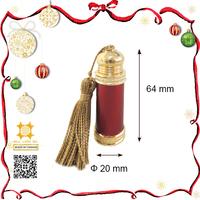Wine red aluminum classic arabian virgin coconut 5ml essential oil bottle