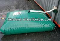 1000D 1mm thickness tarpaulin Folding water recycling PVC water storage tank