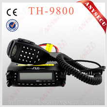 Small size long battery life 800CH car Quad Band UHF VHF Scrambler Repeater mobile radioTransceiver TYT TH-9800 For Supermarket