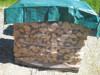Plastic canvas fabric fire retardant green-brown tarpaulin cover for wood