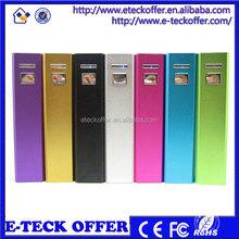 power bank 2600mAh colorful power bank with universal V8 usb cable
