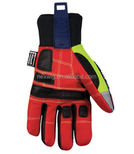 High quality leather TPR impact work safety gloves for Gas and Oil fields