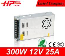 Guangzhou fabricante precio de fábrica alta eficiencia tensión constante de salida única 12 v 300 w 25a equipo de conmutación