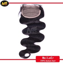 Body wave 6a unprocessed indian virgin remy hair free part lace closure