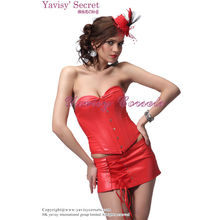 2013 Autumn new red rubber latex leather firm slim and beauty body shaper