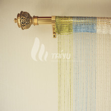 Colorful Spaghetti Silver Door Beaded String Curtain
