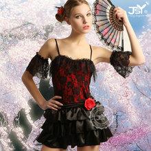 realiza el vestido barato rojos trajes de danza oriental