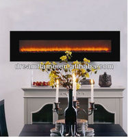 wall mounted big view electric fireplace