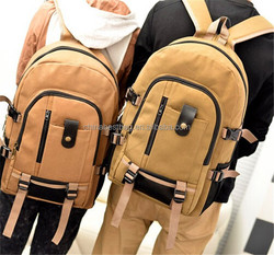 Unisex Canvas Rucksack Multi-function Travel Vintage Laptop Backpack