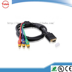 vga 15pin to 4pin 4 rca cable