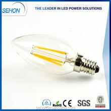 UL CUL list led chandelier light bulbs 1W 2W 3W 4W led filament bulbs WW/NW/CW E27 E26 B22 E14 E12 decorative led light