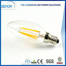 led candelebra e14 e12 b22 e27 dimmable led candle bulb 2w 3w 4w dimmable led bulb made in china