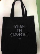 design shopping bags 10oz black custom cotton shopper