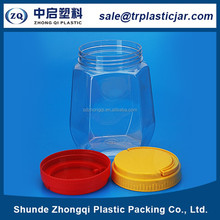 popular and competitive price square plastic candy jar packaging plum candy