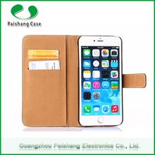 Stitching mobile phone wallet PU flip leather cell phone case cover for iphone 6/ 6 plus with card slots stand function