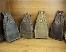 Vintage Fashion Casual 100% Genuine Crazy Horse Leather Cowhide Men Chest Bag Shoulder Crossbody Bag Bags For Men