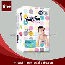 YOUR SUN Super Soft Disposable Sleepy Baby Diaper Factory In China