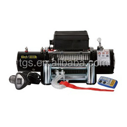 12V 13000 lb wireless 4wd winches for car jeep truck used truck winches for sale