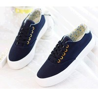 D86743H 2015 spring new style women plain dyed casual shoes