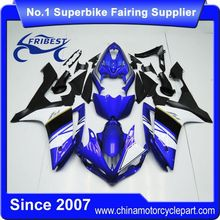FFKYA005 Motorcycle Fairings For R1 2007 2008 Blue White Black With Silver Stripe