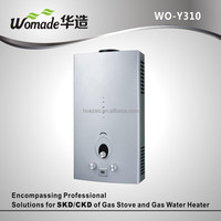 WO-Y310 wall mounted open pipe gas water heater low price gas geyser for OEM