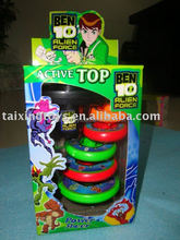 New wholesale kids flashing spinning top with light and music