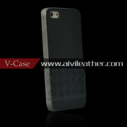 For iPhone5/5s premium genuine leather cases, for iPhone5/5s weave leather case