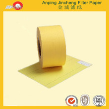 Replacement Air Filter Paper Acrylilc Resin 100% wood pulp