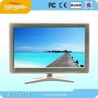 special design black cabinet super slim 24'' led tv