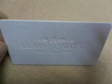 Cotton paper embossed namecard printing with colored edge