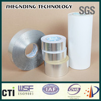 New design! 45um Quick sticking White coated release paper SIS-25 Synthetic Rubber Aluminum Foil Tape