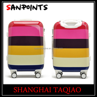 China manufacturer colorful ABS/PC trolley luggage 24 inch trolley suitcase with universal wheels