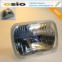 7 inch Square 200 Auto Crystal Glass Halogen Sealed Beam High/Low ight H4 headlight