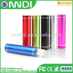 Round portable mobile mini power bank 2600mah/portable charger for smartphone